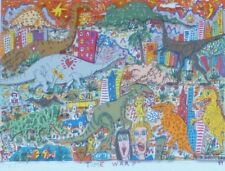 "James Rizzi ""Time Warp""  1989 Hand Signed 3-D Serigraph Pop Art framed"