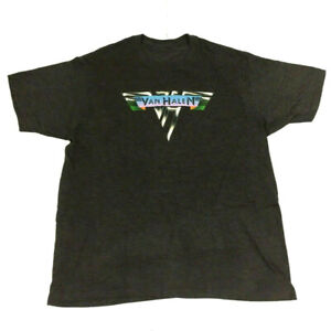 Van Halen Men T-Shirt Classic Logo Graphic Tour Concert Spell Out 2000's Reprint