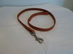 Brown Leather Dog Lead 102cm x 1.5cm
