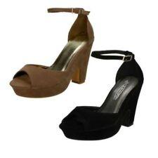 Zapatos de tacón de mujer plataformas de ante