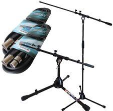 Keepdrum Mikrofonständer MS107B + Mikrofonstativ klein + 2x Mikrofonkabel XLR 6m