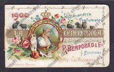 CALENDARIETTO BEMPORAD 1900 LA CENERENTOLA è il 1° Calendarietto di Bemporad !!!