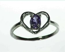 Purple Sapphire Sterling Silver Lady,s Ring RSS1087