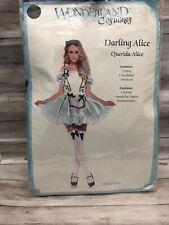 Womens Darling Alice Wonderland Halloween Costume Cosplay Dress 3 Piece