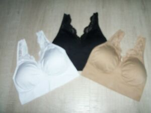 NEW Rhonda Shear Ahh Padded Bras 3 Pack - Choice of Colour / Size