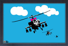 BANKSY HELICOPTERS 13x19 FRAMED GELCOAT POSTER STREET ART ARTIST PAINT LONDON!!!