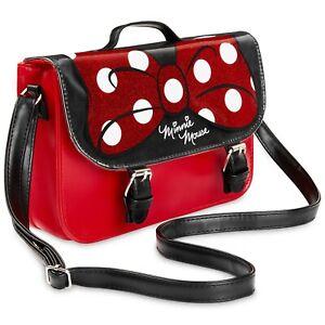 Disney Handbag for Girls with Minnie Mouse Glitter Bow, Shoulder Bag