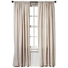 Target Threshold Farrah solid  cream  window curtain panel 54 x 84 New