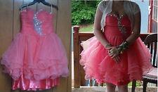 Watermelon color Short Quinceanera/Cocktai/ Prom/Evening/Party/Bridesmaid Dress