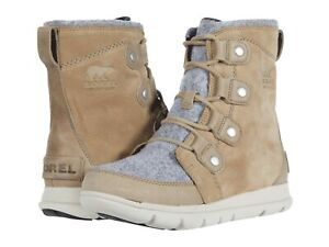Sorel Women's Explorer Joan Suede Winter Boots - Felt Khaki II