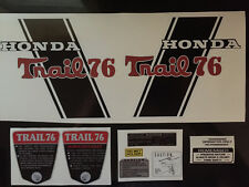 "CT70 H ""Trail 76"" Custom CT76H  frame decals, graphics, Complete Set!!"