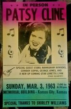 PATSY CLINE CONCERT POSTER PRINT 1963