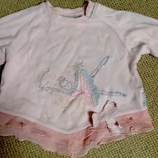 Pampolina Long Sleeved Top, 18 -24Mths, Pink Ballerina, Very Good Condition!