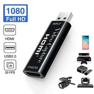 4K Video Capture Card HDMI zu USB2.0 1080P Game Recorder Live Video Streaming