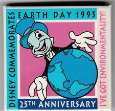 Disney Pinback Button. Earth Day 1995.Jiminy Cricket,25Th Anniversary
