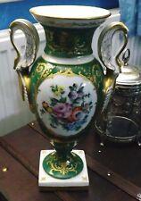 Le Tallec. Limoges. Green Porcelain Vase.  Date Letters MM. Painters Initials JJ