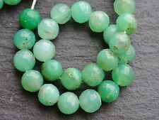 "HAND FACETED SHADED CHRYSOPRASE ROUNDS, approx 7mm - 8mm, 7"", 22+ beads"
