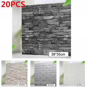 20X 3D Tile Brick Wall Sticker Self-adhesive Waterproof Foam Panel Wallpaper