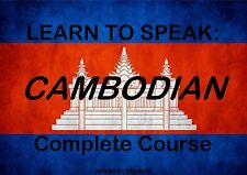 LEARN CAMBODIAN - LANGUAGE COURSE - 51 HRS AUDIO MP3 & 4 BOOKS ON DVD - CAMBODIA