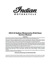 Indian Chief Chieftain Springfield 2014 2015 2016 service manual 9925933 R06