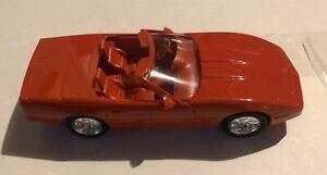 "ERTL 1990 Chevrolet Corvette Car BRIGHT RED Mint In Box 7 "" Long Vintage"