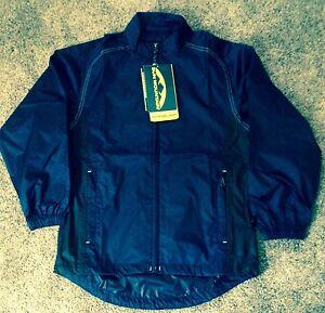 Ladies Sun Mountain Provisional Wind Golf Jacket Navy Blue Rain Coat Small S