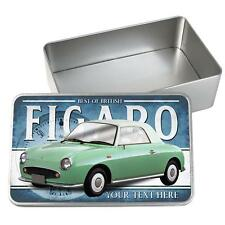 Personalised Nissan Figaro Green Car Tin Classic Retro Storage Box Dad Gift CL41