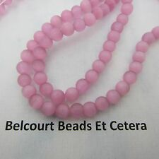 Pink Round 6mm Cat's Eye Glass Beads 65 PC Gorgous Pink Color
