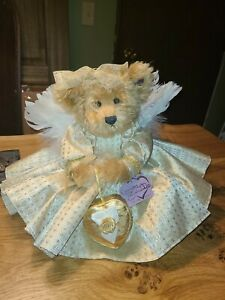 "Annette Funicello Collectible Bear ""Goldie"" 12"" Golden Angel Bear"