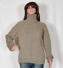 hand knit 90% ANGORA rabbit Pullover Very soft Fuzzy Jumper Turtlenecks sweater