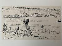 Albert Marquet gravure Paysage Hendaye Pays Basque