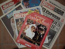 SEVEN NEWAPAPERS 1986 ROYAL WEDDING (ANDY & FERGIE)
