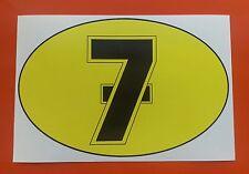 Barry Sheene Número 7 Motocicleta Adhesivo Calcomanía 205mm X 135mm