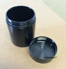 """1.25""""x1.75"""" Metal Storage/Stash Case Can - Black - Air,Water,Smell Proof Tight"""