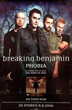 BREAKING BENJAMIN Phobia PROMO Concert Poster RARE