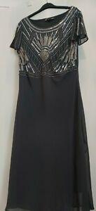 Joanna Hope Grey Evening Dress Size 20