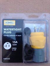 Watertight  Plug 15A  125V , Hubbell , 14W47HZ