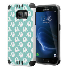 Hybrid Dual Layer Armor Case for Samsung Galaxy S7 - Mint Elephant