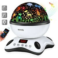 Moredig Baby Light Projector, Remote Control and Timer Design Rotating Night ...