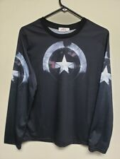 CAPTAIN AMERICA LONG SLEEVE COMPRESSION T-SHIRT XL FITS LIKE A LARGE PERFECT