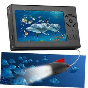 Underwater Fishing Camera, Portable 100FT Fish Finder Camera HD 1000 TVL Black