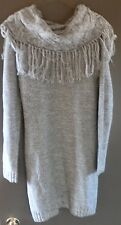 NWT Maurices Cowl Neck Sweater Dress Soft Knit Gray w/ Undergarment Size M