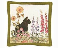 Spice Filled Black Cat Mug Mat for Tea or Coffee Aromatic Spice Scent