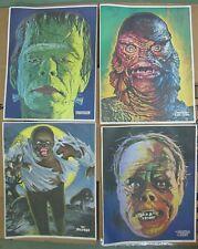 1975 Universal Studios Monsters Posters Glow In The Dark Frankenstein Set