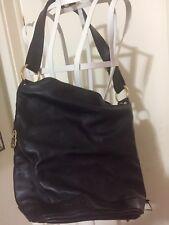 Marino Orlandi Made In Italy Italian Leather Shoulder Sling Bag Black
