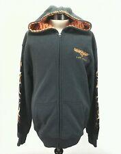 HARLEY DAVIDSON Las Vegas Flames Eagle Jacket Sewn Hoodie Sweatshirt Gray Mens L