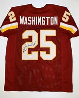 Joe Washington Autographed Maroon Pro Style Jersey- JSA Authenticated
