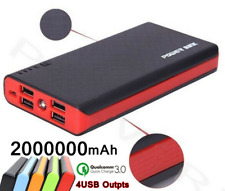 2000000mAh Portable Power Bank LED 4 USB Backup External Battery Pack Charger US