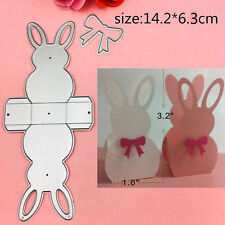 3D Rabbit Frame Gate Box Cutting Dies Embossing Stencils Scrapbooking Paper Card