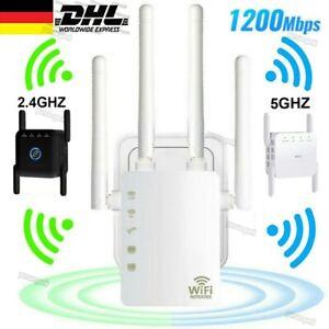 WLAN Repeater 1200Mbps 2.4Ghz&5Ghz Dual Band Signal Verstärker Router Extender